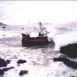 Csiren Boat stranded on shore